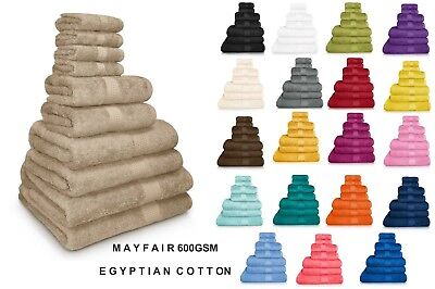 100% Egyptian Cotton Face Hand Bath Sheet Towel Waffle 600GSM All Colours NEW