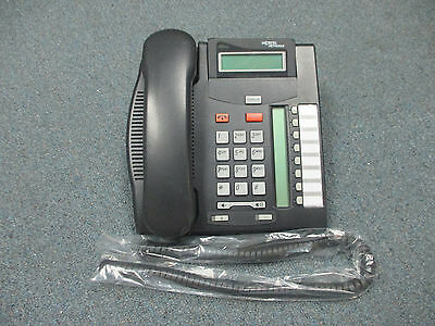 Nortel Norstar T7208 Charcoal 8 Button Display Speaker Telephone NT8B26AABL