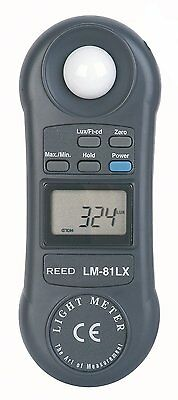 REED LM-81LX Compact Digital Light Meter 2,000 Fc / 20,000 Lux