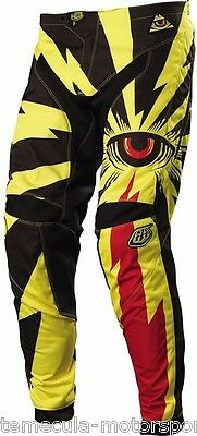 Troy Lee Designs Tld Motocross Mx Gp Pants Cyclops Yellow Adult Size 32 05440532