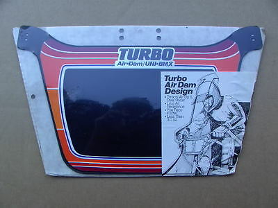 Nos New Bmx Uni Turbo Number Race Plate Blk Old School