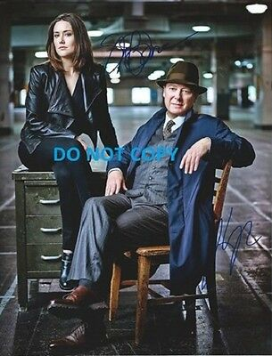 Hand Signed By The 2 Main Cast Rare Blacklist Autographed Photo With Coa