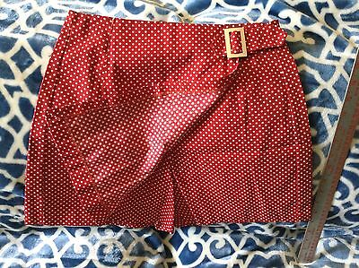 Vintage Red w/White Polka-dots Skort(Shorts & Skirt Together)1960s-So Cute