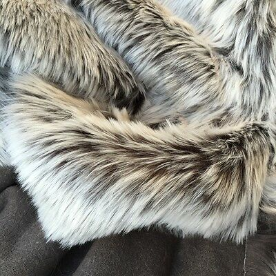' Blizzard ' - dark backing with frosted tip - faux fur fabric - furaddiction