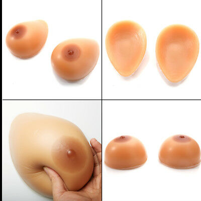 D Cup 1000g Realistic Silicone Breast Forms Cross Dresser Transvestite TG Boobs