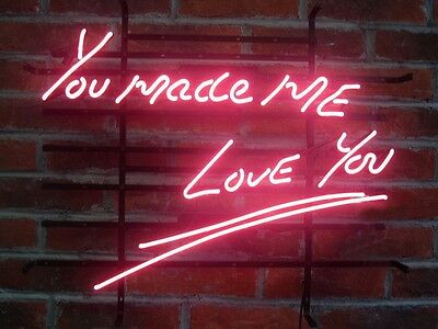 "New You Made Me Love You Wall Home Handcrafted Neon Light Sign 20""x16"" LT20M"