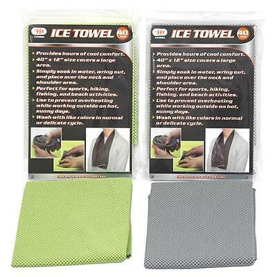 Cooling Ice Cold Towel - Construction Fishing Hiking Climbing Sports Grey/Black