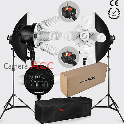 Pro Studio Photo 1900W Continuous Lighting Softbox Kit Bulb/Light Stand/Carrybag