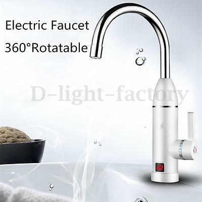 Pro LED Display Electric Instant Fast Water Heating Mixer Hot & Cold Faucet Tap