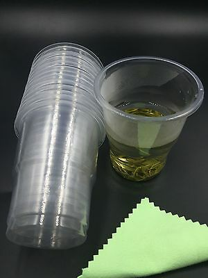 Clear Plastic 8oz Disposable Cups 230ml Drinking Glass Vending Style Cup 200cc