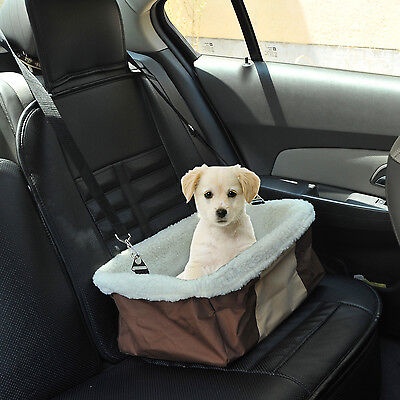 PawHut Pet Dog Car Seat Bag Puppy Cat Travel Safety Cushion Protector Waterproof