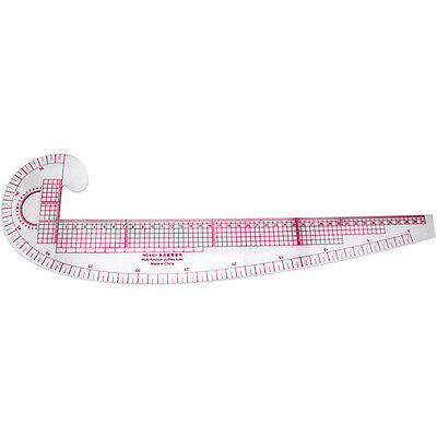 3 In 1 French Curve Hip Straight Ruler Comma F Measure Sewing Dressmaking Taylor