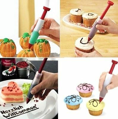 FD3995 Silicone Cake Pen DIY Pastry Cookie Decorating Cream Syringe Baking Tool♫