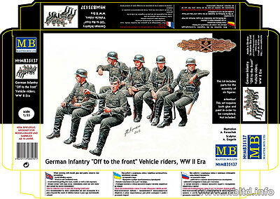 """Master Box - 35137 - German Infantry """"Off to the front"""" Vehicle Riders - 1:35"""