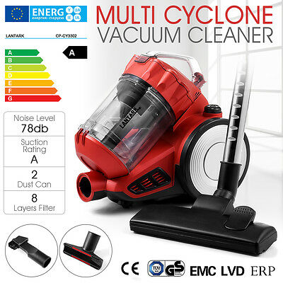 Cylinder Cyclonic Bagless Powerful Compact Hoover Vacuum Cleaner 2.5L HEPA