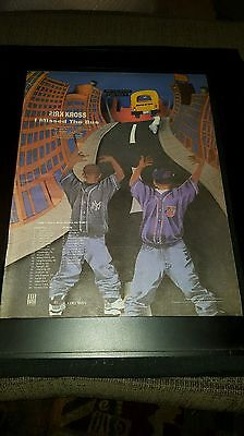 Kris Kross I Missed The Bus Rare Original Tour Promo Poster Ad Framed!