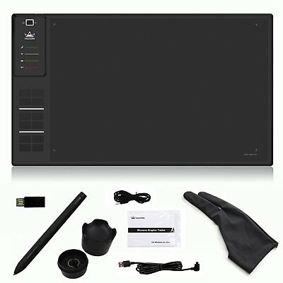 Huion H610Pro USB Art Graphics Drawing Tablet 2048 Levels+Rechargeable Pen+Gift