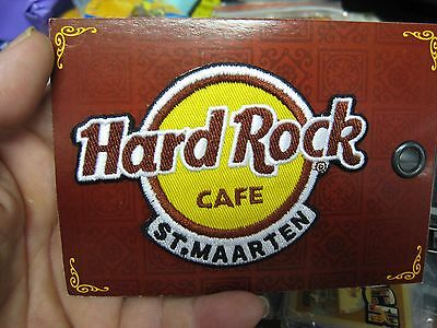 """NEW Hard Rock Cafe HRC Classic Logo 4"""" Embroidered Patch / Caribbean St. Maarten"""