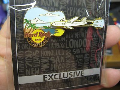 NEW Hard Rock Cafe HRC Exclusive Guitar Air Plane Pin / Caribbean St. Maarten