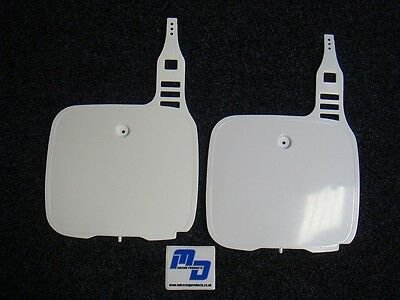 Yamaha YZ 250 1987-1991 UFO White Front Number Plate