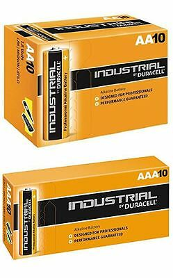 Duracell 10 x AAA and 10 x AA Industrial Battery Replaces Procell Expiry 2023