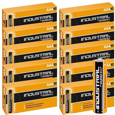 100 x Duracell AAA Industrial Battery Alkaline Replaces Procell Expiry 2023