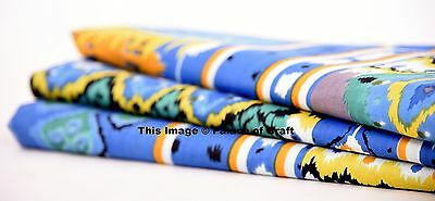 Indian Dressmaking Printed Decorative Crafting Cotton Fabric Sewing By 1 Yard