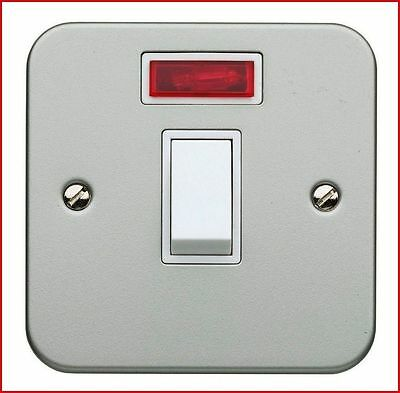 Superswitch SW85 20A Double Pole DP Light Switch With Neon Metal Clad