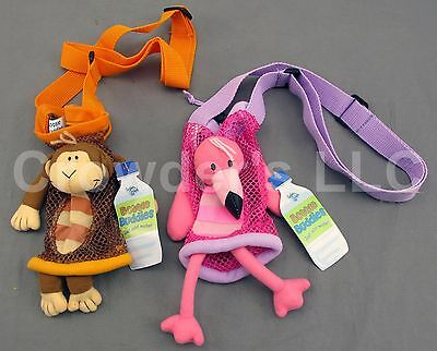 Monkey & Flamingo Bottle Buddy Stephen Joseph Gifts Water Bottle Holders