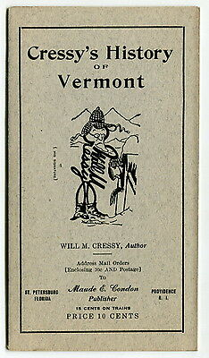 "1924 Brochure: ""Cressy's History of Vermont"""