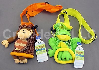 Monkey & Frog Bottle Buddy by Stephen Joseph Gifts Water Bottle Holder