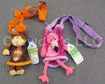 Monkey & Flamingo Bottle Buddy by Stephen Joseph Gifts Water Bottle Holder