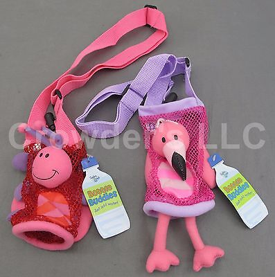 Flamingo & Ladybug Bottle Buddies by Stephen Joseph Gifts Water Bottle Holder