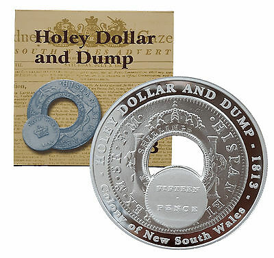 2003 Holey dollar and dump silver coin set 58 grams of silver, low mintage