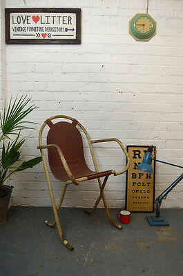 Vintage Mid Century Stak-A-Bye Armchair Desk Chair