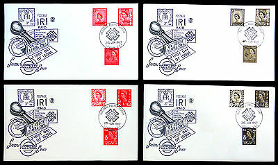 GB 1969 Mixed Regional Covers x4 National Postal Museum Cancels SEE BELOW FP7604