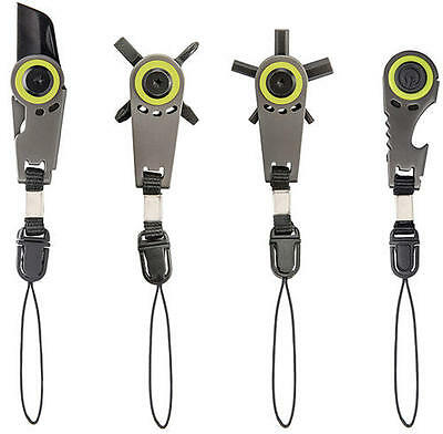 GUIDESMAN Z-Tools ZIPPER PULL 4 Pack or Individual (Hex Driver Knife LED Opener)