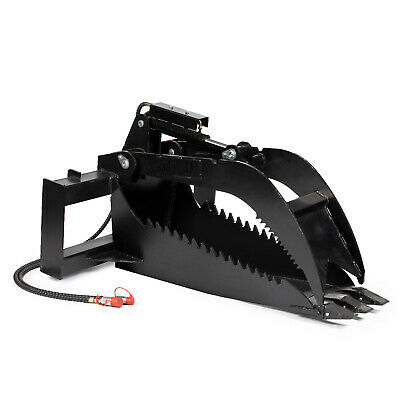 "Titan Stump Bucket Grapple Attachment Extreme Duty 1/2"" Steel Kubota Skid Steer"