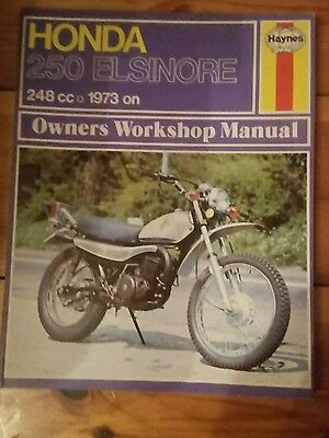 Haynes workshop manual Honda 250 Elsinore 1973 on