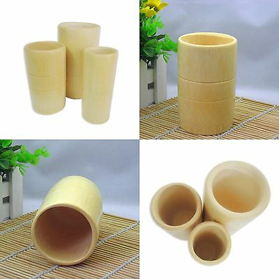3x Traditional Chinese Bamboo Wood Fire Cupping Acupuncture Therapy Treatment #