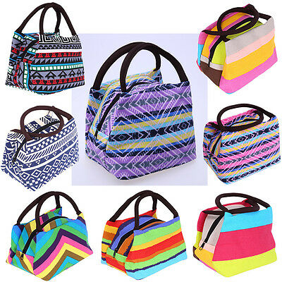 Portable Thermal Insulated Cooler Picnic Bento Lunch Box Carry Tote Storage Bag