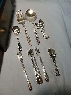 17 Piece Lot of Vintage Silverplate Wm Rogers-International-Rogers & Hamilton-D
