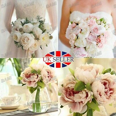 Artificial Fake Peony Silk Flower Home Wedding Garden Bridal Hydrangea Decor UK*