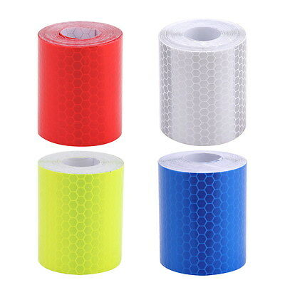 3M*5cm Car Truck Reflective Self-adhesive Safety Warning Tape Roll Film Sticker