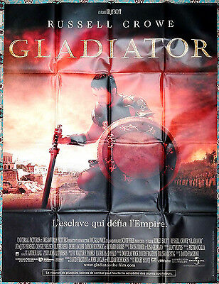2000 GLADIATOR Russell Crowe Ridley Scott 47x63 French movie poster
