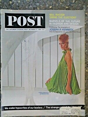 Saturday Evening Post Magazine October 17,1964  Racism VINTAGE ADS Fashion