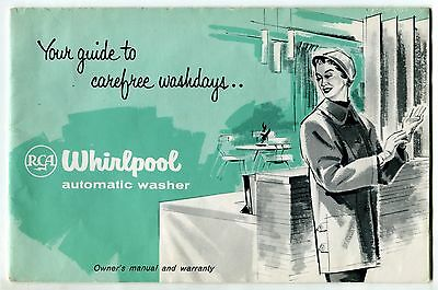 """Original Owners Manual: """"RCA WHIRLPOOL AUTOMATIC WASHER"""""""
