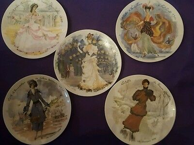D'Arceau Limoges Women of the Century Set of 6 Collector Plates FR Ganeau
