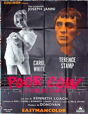 1968 POOR COW Carol White Terence Stamp Ken Loach RARE French 47x63 film poster