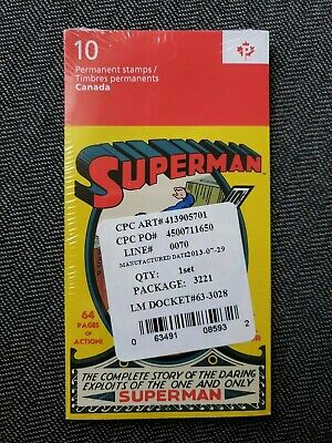75th Superman Anniversary 5 booklets of 10 stamps (50 in total)